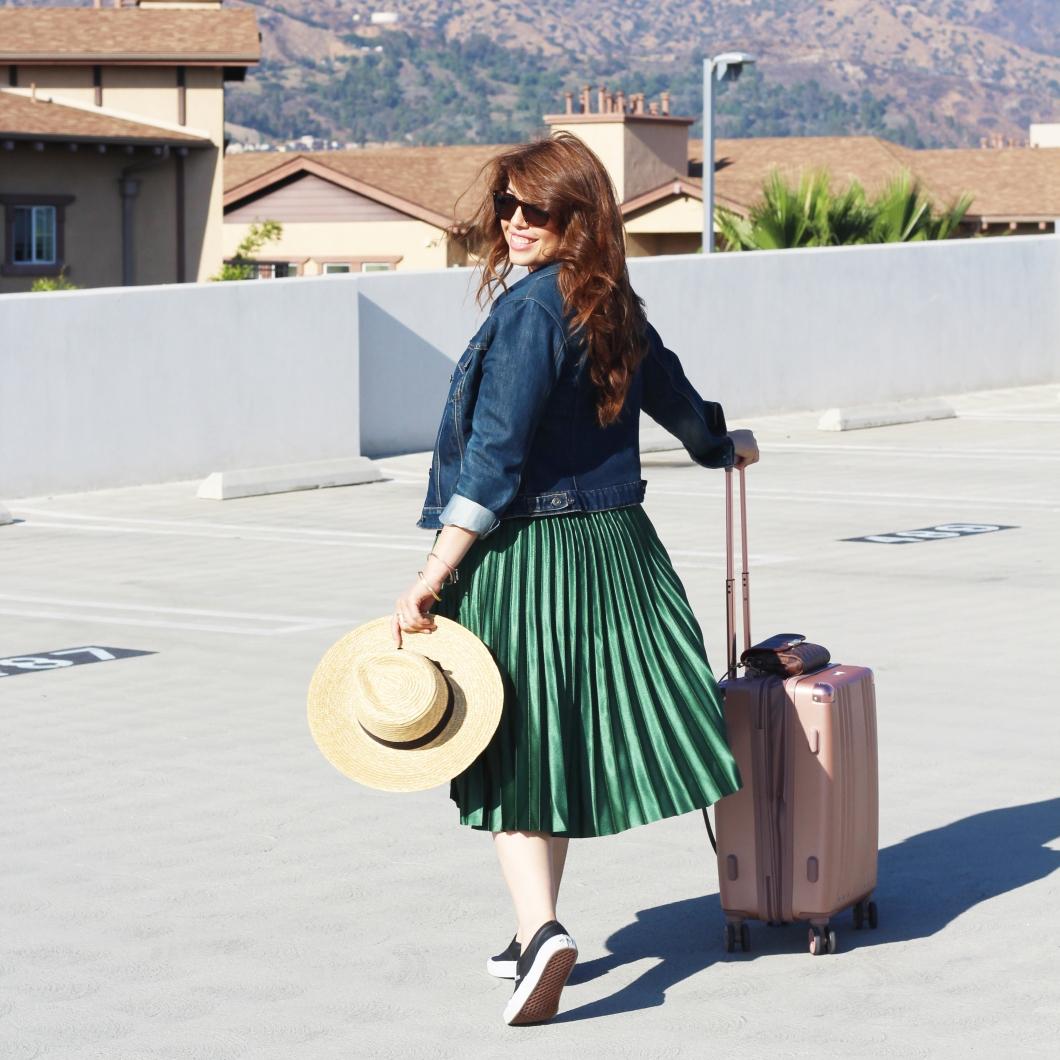 Zara green skirt_07_back shot