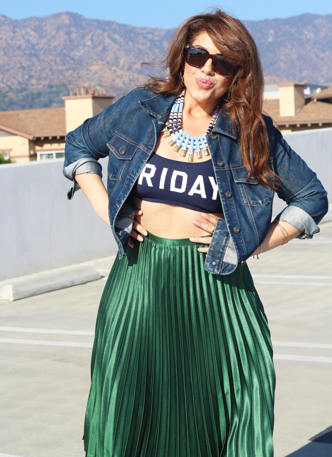 Zara green skirt_o8_front shot