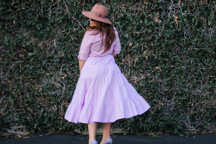 Taking Tiered Skirts into Pre-Fall (Transitional Weather Look)